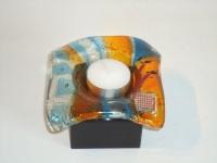 glazen mini-urn met theelichtje