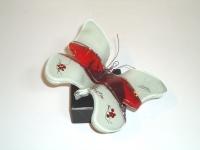 Glazen mini urn vlinder