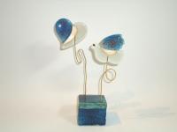 Mini-urn glas hart-vogel - baby prematuur