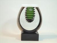 Urn mini met kaarshouder glas