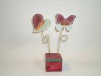Mini urn hart-vlinder voor baby prematuur