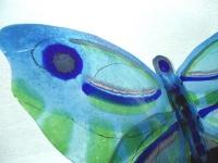 bijzondere glazen vlinder-urn