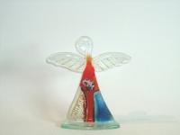 engel van glas met kaarsje