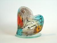 hart in glas - waxinelichthouder