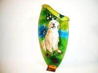 urn hond van glas