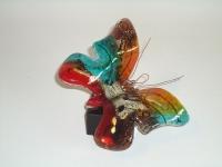Vlinder-urn van glas