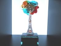 kleine glazen urn-levensboom