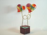 Harten-urn glas voor baby-prematuur