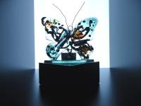 vlinder-urn met waxinelichthouder