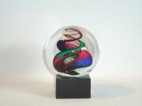 Druppel-urn in glazen bolvorm