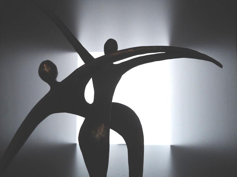 mini (duo-) urn brons-samen een