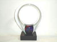 glazen mini urn - verbondenheid - ring