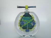 Glazen urn rond