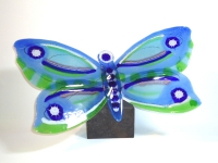 unieke urn-vlinder in glas