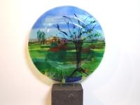 Glazen urn -boom- gedenkobject