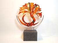 Glazen urn - gedenkobject levensboom - Ellen Janssen