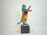 Katten urn van glas-natuursteen