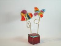 Vlinder-hart-urn in glas