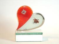 kleine urn hart van glas