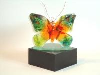 glazen vlinder-urn