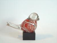 Glazen urn vogel