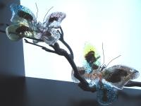 vlinders-glazen gedenkobjecten