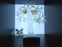 mini urn glas-boom met vlinders