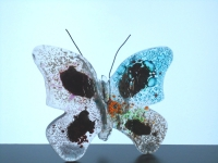 vlinder van glas