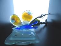 kleine vlinder-urn-glas