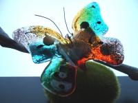 unieke glazen vlinder