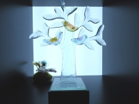 mini urn glas levensboom vogels