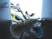 unieke vlinders van glas