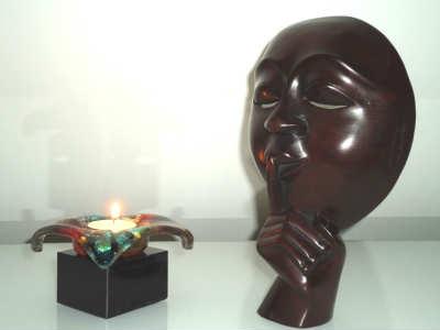 mini-urn met kaarsje of waxinelichtje