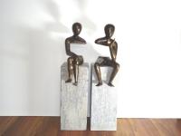 Bronzen beelden-verbondenheid