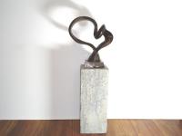 bronzen beeld hart