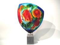 Kleurrijk abstract glazen kunstobject