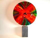 abstracte glaskunst-bloem