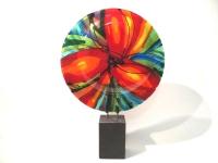 abstract kunstobject glas-verbondenheid