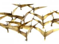 gedenkteken voor wand metalen vogels