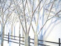 gedenkteken bomen voor wand