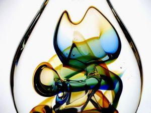 moderne glazen mini urn druppel