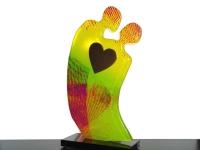 glazen gedenkbeeldje liefde hart