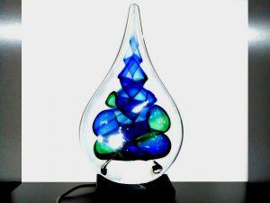 urn mini glazen druppel led