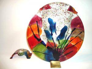 urn glas kleurig