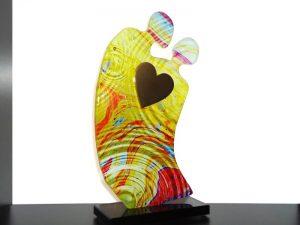 glazen hart urn mini beeldje