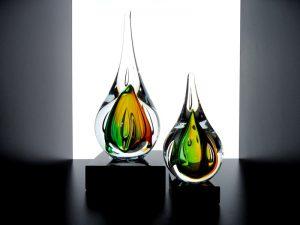 glazen mini urnen druppels