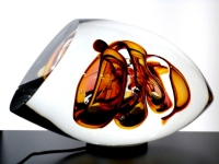 mini urn modern van glas