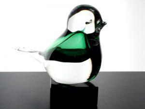 kleine urn vogel van glas
