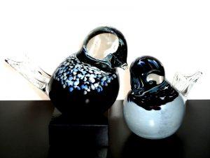 mini urnen vogels glas