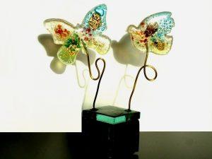 kleine duo urn glas vlinder vogel